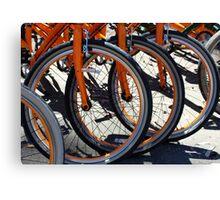 Bike Wheels Canvas Print