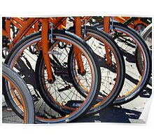 Bike Wheels Poster