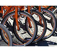 Bike Wheels Photographic Print
