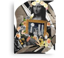 Mona And Twin Towers Collage Art Wear Canvas Print