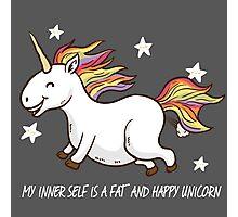 The fat and happy Unicorn Photographic Print
