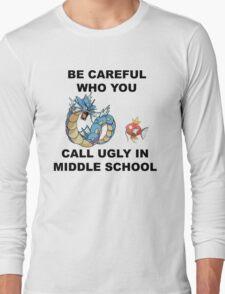 Magikarp & Gyarados Black Long Sleeve T-Shirt