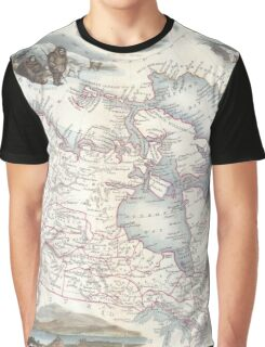 Vintage Map of Canada (1849) Graphic T-Shirt