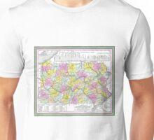 Vintage Map of Pennsylvania (1850) Unisex T-Shirt
