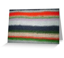Striped Knit Greeting Card