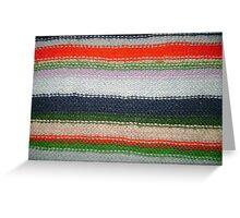 Striped Knit Greeting Card
