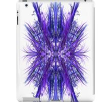 Digital Finger Painting Blue 001 iPad Case/Skin