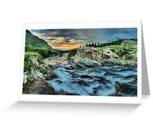 Swiftcurrent Falls Sunrise Greeting Card