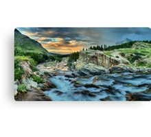 Swiftcurrent Sunrise Panorama Canvas Print