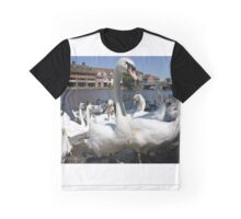 Swans in Windsor, England Graphic T-Shirt