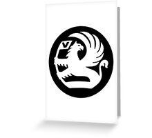 Vauxhall Badge WHT/BLK Greeting Card