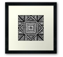 One Night, I Meditated Next To A Shrub In The Desert Framed Print