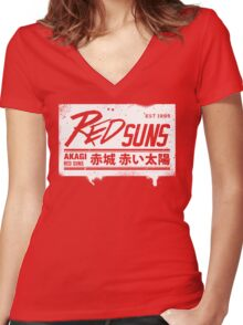 Initial D - RedSuns Tee (White Box) Women's Fitted V-Neck T-Shirt