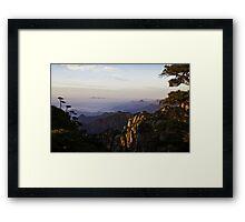 morning at shan-qing mountain Framed Print