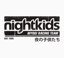 Initial D - NightKids Tee (Black) by Chad D'cruze