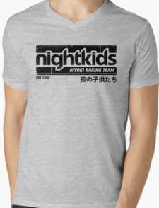 Initial D - NightKids Tee (Black) Mens V-Neck T-Shirt