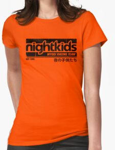 Initial D - NightKids Tee (Black) Womens Fitted T-Shirt