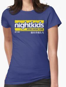 Initial D - NightKids Tee (White) Womens Fitted T-Shirt