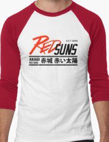 Initial D - RedSuns Tee (Black) Men's Baseball ¾ T-Shirt