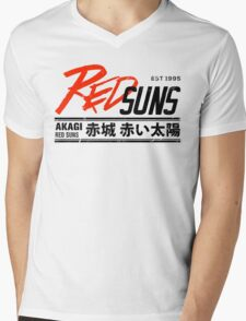 Initial D - RedSuns Tee (Black) Mens V-Neck T-Shirt