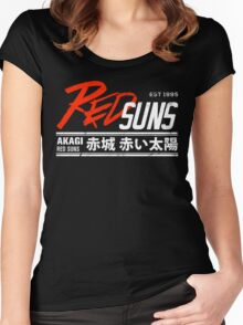 Initial D - RedSuns Tee (White) Women's Fitted Scoop T-Shirt