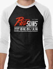Initial D - RedSuns Tee (White) Men's Baseball ¾ T-Shirt