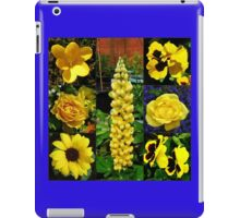 Sunkissed Golden Flowers Collage iPad Case/Skin