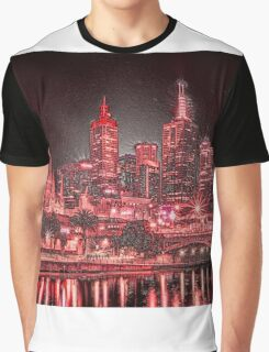 Melbourne at Night Graphic T-Shirt