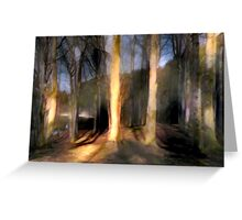 Shadows in The Forest Greeting Card