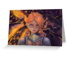 The Knight of Flames Greeting Card