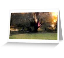 Bridge in The Forest Greeting Card