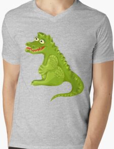"Cutely ""smiling"" cartoon crocodile Mens V-Neck T-Shirt"