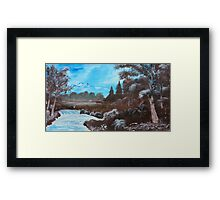 Distant Mountains Framed Print