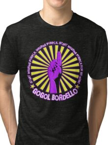 Gogol Bordello - Start Wearing Purple Tri-blend T-Shirt