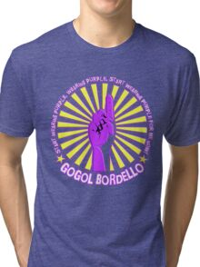 Gogol Bordello - Start Wearing Purple Tri-blend T-Shirt