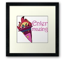 Plushfire - Entermazing Framed Print