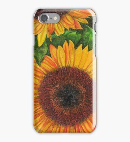 Sunflower Sketch iPhone Case/Skin