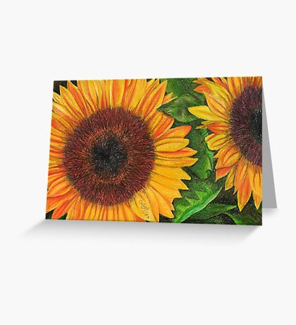 Sunflower Sketch Greeting Card