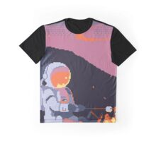 8-Bit Astronaut Camp Fire Graphic T-Shirt