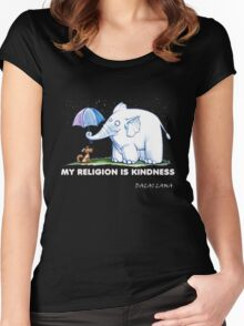 My Religion is Kindness Women's Fitted Scoop T-Shirt