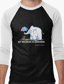 My Religion is Kindness Men's Baseball ¾ T-Shirt