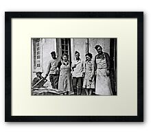 WW2 - German Soldiers and African British, French Soldiers peaceful together Framed Print