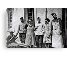 WW2 - German Soldiers and African British, French Soldiers peaceful together Canvas Print