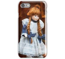 Red haired porcelain doll iPhone Case/Skin
