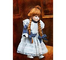 Red haired porcelain doll Photographic Print