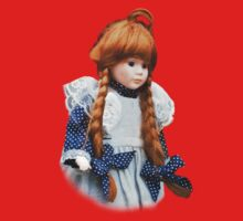 Red haired porcelain doll One Piece - Short Sleeve