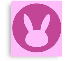 D-Va Bunny Emblem Simple Canvas Print