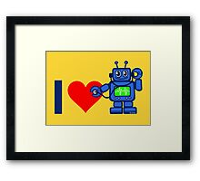 I heart robot, robot listen to heart Framed Print