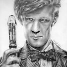 Matt Smith Portrait - 11th Doctor by ChrisNeal