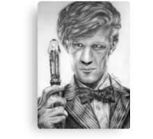 Matt Smith Portrait - 11th Doctor Canvas Print
